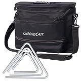 Gon Bops FSTRI-3PK 嘉年华铝三角形,3 件装,带 10.16 厘米、15.24 厘米、20.32 厘米三角形和音乐家装备袋