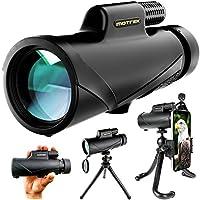 单筒望远镜 - 8x42 大功率高清带智能手机支架和灵活三脚架 - 防水 FMC BAK4 棱镜适用于观鸟、野营、远足、狩猎 - 成人和儿童 - MOTREK
