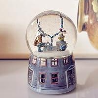圣诞元旦新年情人节精致浪漫生日礼物!几米左右走相遇音乐盒 水晶球 遇见 送女友 送老婆 送朋友