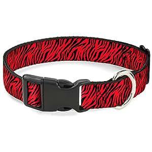 """带扣塑料夹领 Zebra 2 Red 1.5"""" Wide - Fits 16-23"""" Neck - Medium"""