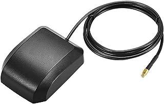 uxcell GPS 主动天线 MCX 公插头 34dB 天线连接器电缆带磁性安装架 1 米电线 L