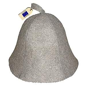 Allforsauna Sauna 帽子俄罗斯巴尼亚帽 * 羊毛毡 现代轻质头部保护男女通用经典深色