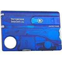 Victorinox 维氏军刀 瑞士多功能军刀 瑞士卡系列 照明卡 0.7322.T2 透明蓝色(13种功能)