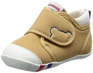 MIKIHOUSE 一段婴儿学步鞋 10-9376-611 米黄色 11 cm 2E