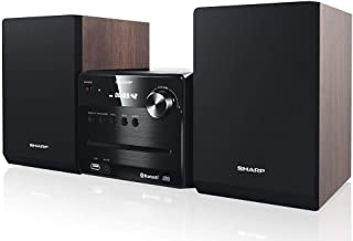 SHARP 夏普 XL-B510 微型音响系统 40W 蓝牙和 USB 播放 CD-MP3XL-B510 (BR)