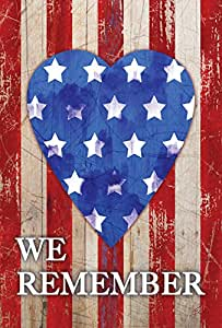Toland Home Garden We Remember Our Heroes 28 x 40 Inch Decorative Patriotic America USA Double Sided House Flag