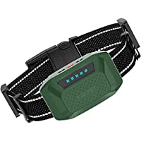 HELLKOPF 止吠项圈 – 可充电止吠项圈,无伤害冲击和振动模式,适用于小型/中型/大型犬 – IP67防水