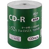 【业务用包装】CD-R for DATA 700MB 1次记录 数据用 100张 收缩eco包 52倍速对应CR80GP100_BULK ノーマルグレード 1個