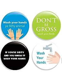 Wash Your 双手 - Clean Your Hands 别针纽扣/别针(5.72 厘米)4 件套