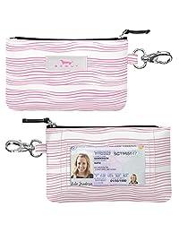SCOUT IDKase 卡夹或钱包,证件支架窗口,钥匙扣,防水,拉链闭合