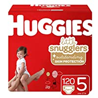 Huggies Little Snugglers 婴儿尿布,尺码 1,198片,1个月 One Month Supply Pack 5