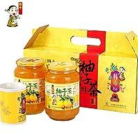 韩今(韩国) 蜂蜜柚子茶1kg*2(韩国进口)(亚马逊自营商品, 由供应商配送)