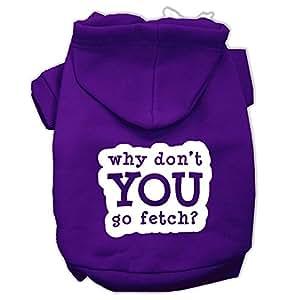 Mirage Pet Products You Go Fetch 丝网印花宠物连帽衫 紫色 中