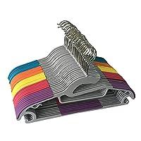 jeronic 30pack 款轻质服装 hangers 防滑耐用服装衣架塑料 hangers 各种颜色适合裤子连衣裙夹克内裤和衬衫