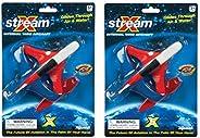 (2件裝)散裝保險杠74500 X-Stream(12.7cm)滑行手推進子飛機玩具