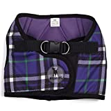 The Worthy Dog 21858-4134TINY 印花 Sidekick 宠物胸背带,紫色,小码