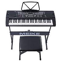 美科多功能电子琴61键智能教学跟弹初学者入门儿童成人仿钢琴键电子琴MK-2089+琴架+升降琴凳
