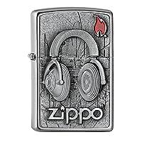 Zippo 打火机,黄铜,铬,5.5 x 3.5 x 1厘米
