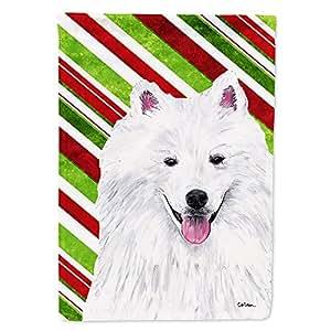 American Eskimo Candy Cane Holiday Christmas Flag 多色 小号