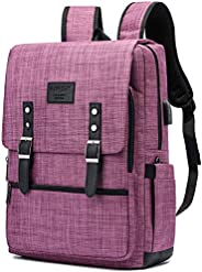 复古背包防盗笔记本电脑背包旅行背包学院书包 紫色