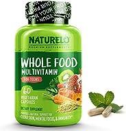 NATURELO 青少年天然復合維生素-青少年男孩和女孩的天然維生素/礦物質-運動兒童的補充劑-提取物--純素食/素食- 60粒膠囊