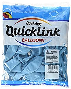 "Qualatex 12"" Quick Link Balloons - Pearlized - Bag of 50 Light Blue Pearl"