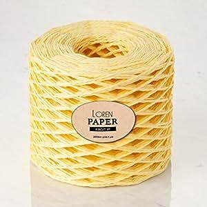 Loren 纸纱 大约 约 109-119.38 克。 110-120 克/ 218 岁(200 米),Worsted-Aran 4 Baby Yellow - RH22 1包 LorenPaper