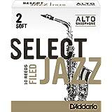 Rico Select Jazz 2号软型锉光中音萨克斯哨片10片装 RSF10ASX2S