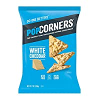 POPCORNERS Original Cheddar, Popped Corn Chips, Gluten Free, Non-GMO (7oz/12 Pack)