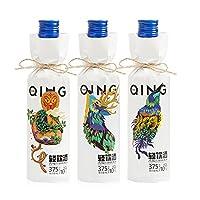 青城山果酒猕猴桃水果酒情侣果露酒低度甜酒日式风味酒动物版375ml*3瓶装 动物图案版