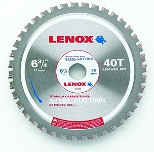 LENOX Tools Circular Saw Blade, Steel-Cutting, 6 3/4-inch, 40T (21878ST634040CT)