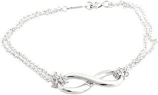 TIFFANY 蒂芙尼 纯银 Infinity 无限 手链 中号 17厘米  30036298