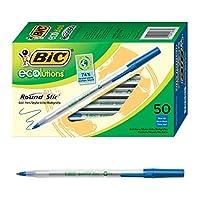 BIC Ecolutions Round Stic圆珠笔(1.0 mm)50支/盒 蓝色(GSME509-BLU)
