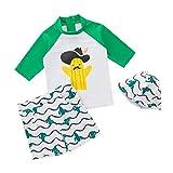儿童男孩两件套泳装*泳衣带泳帽