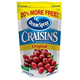 Ocean Spray Craisins, Sweetened Dried Cranberries, 6-Ounce Pouches (Pack of 12)
