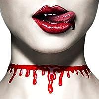 Paialco 女式 Horror Blood 滴滴颈圈 Creepy 项链 万圣节
