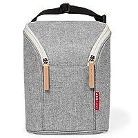 Skip Hop Grab & Go Double Bottle Bag- Grey Melange