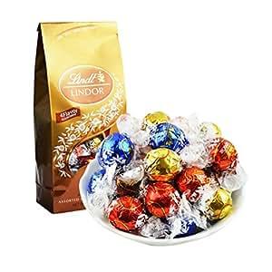 [享客不说谎]Lindt 瑞士莲 美国琳达夹心巧克力球5种口味混合礼袋 600g 大约50粒(原装进口)