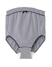 rosemadame 孕妇核桃的内裤 ナルエー / Narue *【条纹】《内衣 / 环保纯棉材质,首次的妈妈放心生产准备》107–7307–01 *蓝 M-L
