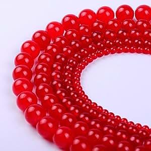天然圆玉散装散装珠宝饰品 4MM、6MM、8MM、10MM、12MM 红色 4mm RL