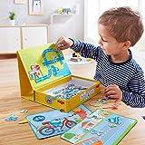 HABA 磁性游戏盒 Street Sense - 118 个磁性片和 3 个背景场景纸板手提包