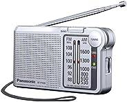 Panasonic 松下RF - p150deg - S收音机 带穿皮带 外放式便携老人随身广播 ,电池供电银色