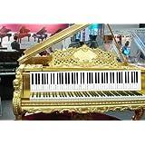乐优右脑 88键钢琴键盘对照图 仿真学钢琴纸键盘比例1:1 练指法 儿童益智玩具 覆膜