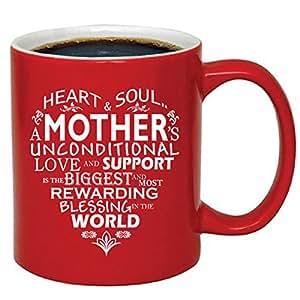 Mother 心形茶咖啡杯 M412 白色 11oz. Red