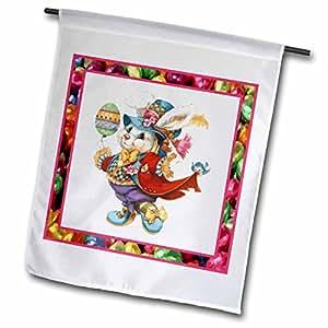 苏珊布朗设计假日复活节–复活节兔子–旗帜 12 x 18 inch Garden Flag
