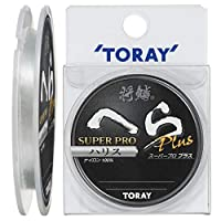 东丽(TORAY) 鱼线 将鳞 hera Super proPLUS 道线 透明 75米 1.5号 自然