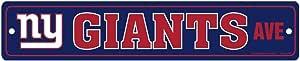 WinCraft NFL 纽约巨人队全彩路标牌,9.53 x 48.26 厘米