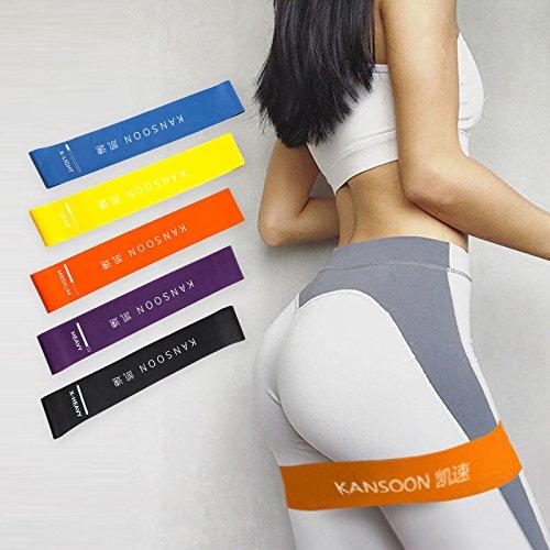 KANSOON 凯速 瑜伽拉力带女健身阻力带力量训练翘臀弹力圈男拉伸运动弹力带乳胶带套装DZ15