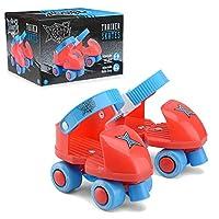Xootz 初学者训练滑板,My First 4 Wheel 四轮轮滑适用于儿童、男孩和女孩