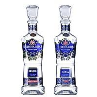 俄罗斯原瓶原装进口洋酒 民族之魂40度伏特加烈酒基酒500ml (1金伏特加+1银伏特加)